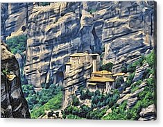 Rock Monastery Acrylic Print by Alexandre Ivanov