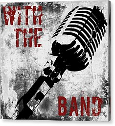 Rock N Roll Microphone  Acrylic Print by Mindy Sommers