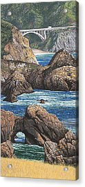 Rock Point Bridge Big Sur Acrylic Print by Andrew Palmer