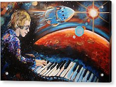 Rocket Man Acrylic Print by Shannon Lee