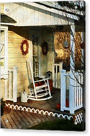 Rocking Chair On Side Porch Acrylic Print by Susan Savad
