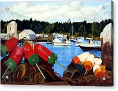 Rockland Harbor Acrylic Print by Laura Tasheiko
