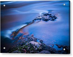 Rocks And Water Acrylic Print by Marvin Spates