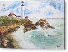 Rocky Coast Acrylic Print by Marsha Elliott