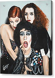 Rocky Horror Picture Show Acrylic Print by Tom Carlton