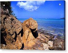Rocky Shoreline Acrylic Print by Thomas R Fletcher
