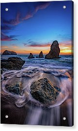 Rodeo Beach Sunset Acrylic Print by Rick Berk