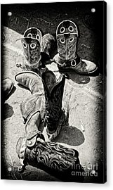 Rodeo Boots And Spurs Acrylic Print by Gus McCrea