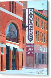 Rogers Acrylic Print by Claire Gagnon