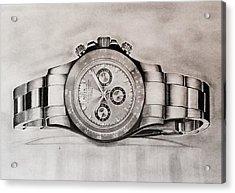 Rolex Acrylic Print by Krishna Regula