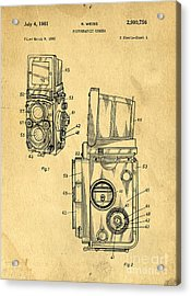 Rolleiflex Medium Format Twin Lens Reflex Tlr Patent Acrylic Print by Edward Fielding