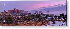 Rolling Mist Through Arches Acrylic Print by Chad Dutson