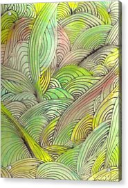 Rolling Patterns In Greens Acrylic Print by Wayne Potrafka