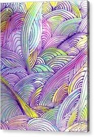 Rolling Patterns In Pastel Acrylic Print by Wayne Potrafka
