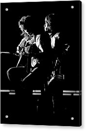 Rolling Stones 1970 Mick And Keith Live Acrylic Print by Chris Walter