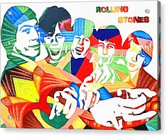 Rolling Stones Colorful Abstract Acrylic Print by Dan Sproul