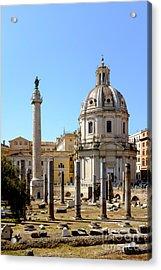 Roman Forum Acrylic Print by Edward Fielding