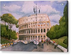 Roman Holiday- Colosseum Acrylic Print by Leah Wiedemer