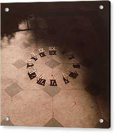 Roman Numerals On Floor Acrylic Print by Elspeth Ross