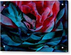Romance - Abstract Art Acrylic Print by Jaison Cianelli