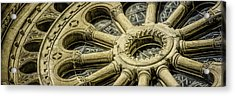 Romanesque Wheel Acrylic Print by Scott Norris