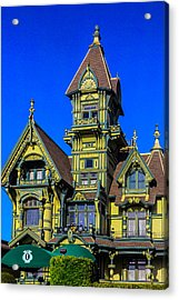 Romantic Carson Mansion Acrylic Print by Garry Gay