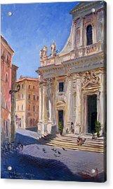 Rome Basilica S Giovanni Battista Dei Fiorentini Acrylic Print by Ylli Haruni