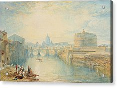 Rome Acrylic Print by Joseph Mallord William Turner