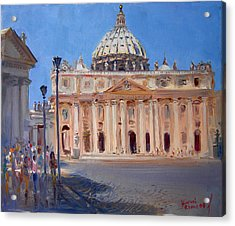 Rome Piazza San Pietro Acrylic Print by Ylli Haruni