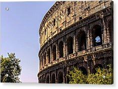 Rome - The Colosseum - Hdr Acrylic Print by Andrea Mazzocchetti