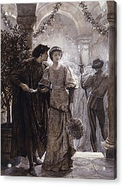Romeo And Juliet Acrylic Print by Frank Dicksee