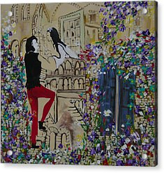 Romeo And Juliet. Acrylic Print by Sima Amid Wewetzer