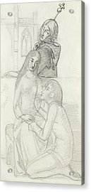 Romeo And Juliet, With Friar Lawrence Acrylic Print by Simeon Solomon