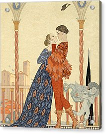 Romeo And Juliette Acrylic Print by Georges Barbier