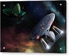Romulan Rendezvous Acrylic Print by Joseph Soiza