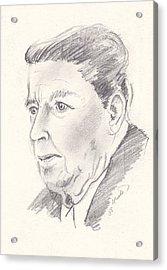 Ronald Reagan Acrylic Print by John Keaton
