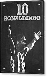 Ronaldinho Acrylic Print by Semih Yurdabak