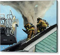 Roof Is Open Acrylic Print by Paul Walsh