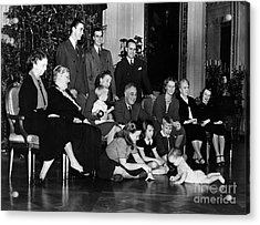 Roosevelt: Family, 1939 Acrylic Print by Granger