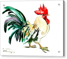 Rooster Acrylic Print by Suren Nersisyan