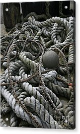 Ropes And Lines Acrylic Print by Timothy Johnson