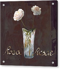 Rosa Rosae Acrylic Print by Guido Borelli