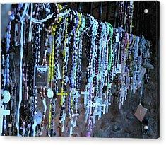 Rosary Acrylic Print by Angela Wright