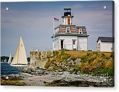 Rose Island Light Acrylic Print by Susan Cole Kelly