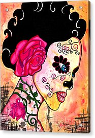 Rose Noose Acrylic Print by B Marie