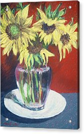 Rosemarys Gift Acrylic Print by Dolores Holt