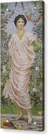 Roses Acrylic Print by Albert Joseph Moore