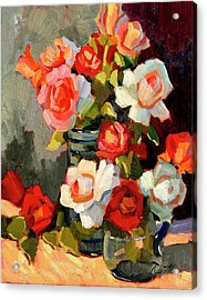 Roses From My Garden Acrylic Print by Diane McClary
