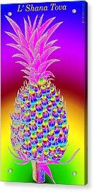 Rosh Hashanah Pineapple Acrylic Print by Eric Edelman