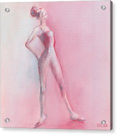 Rosy Pink Ballerina Acrylic Print by Beverly Brown Prints